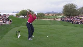 Tiger Woods' swing analysis at Waste Management
