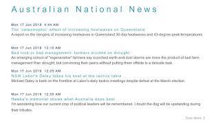National News Headlines for 17 Jun 2019 - 8 AM Edition