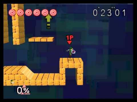 Super Smash Bros. 64 Bonus Stage 1 with Link