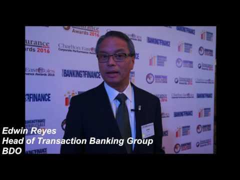 Edwin Reyes of BDO at the ABF Awards 2016