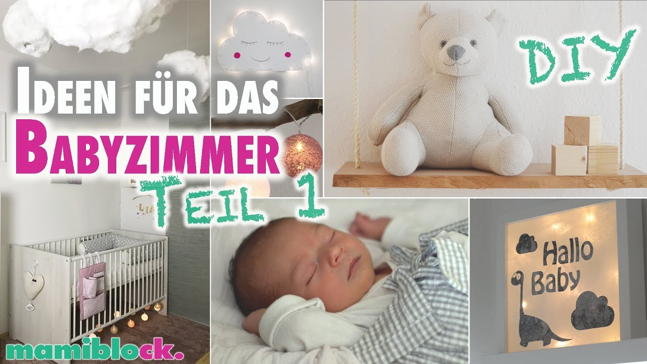 ideen f r das babyzimmer diy roomtour kinderzimmer mamiblock youtube. Black Bedroom Furniture Sets. Home Design Ideas