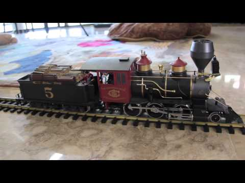 LGB 22182 Colorado & Southern Mogul steam locomotivein action