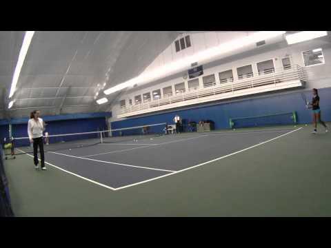 Melissa Carlay Tennis Training 12-21-10
