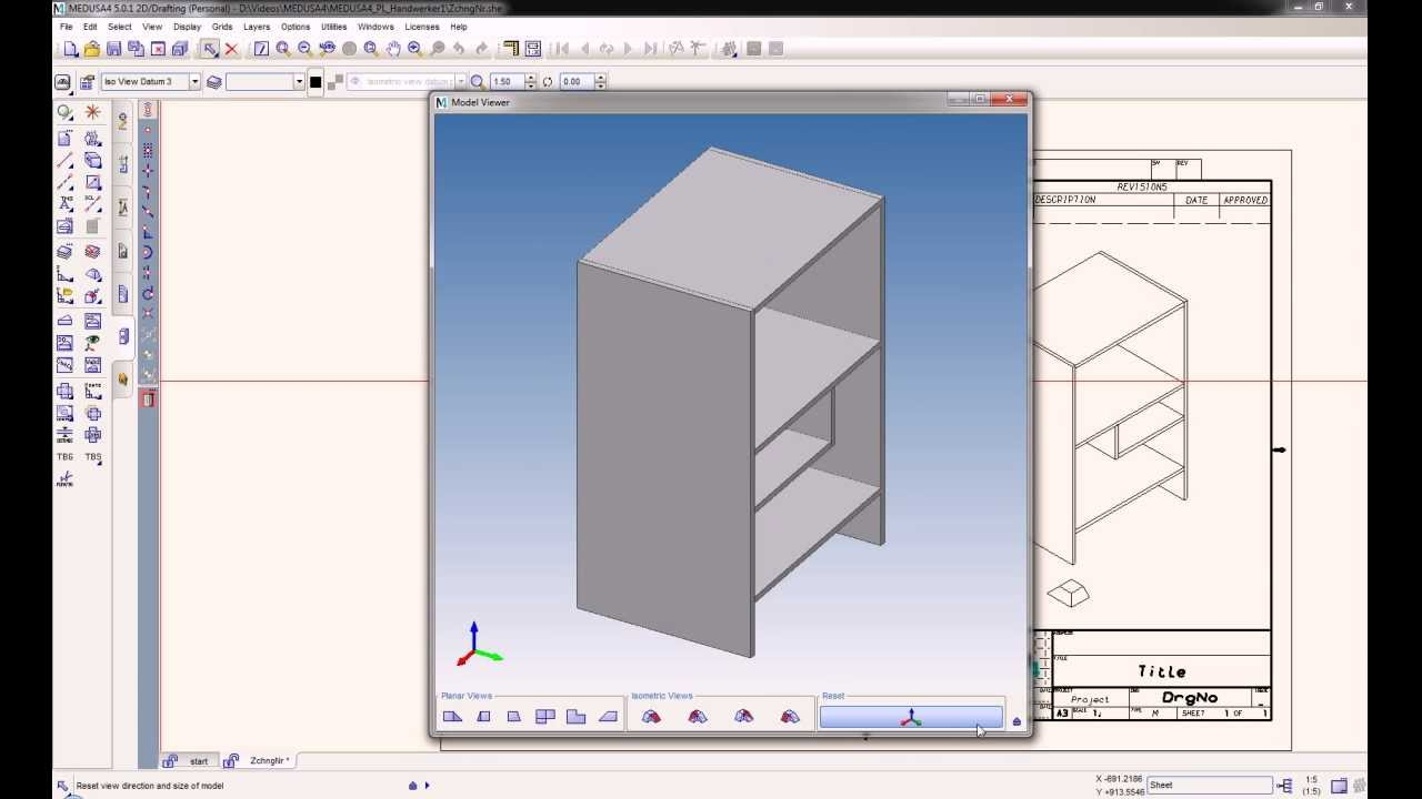 Kostenlose 2d 3d cad software f r handwerker medusa4 for Software cad 3d