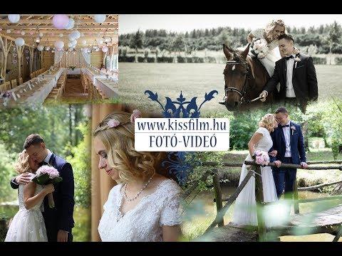 Esküvő a szabadban (Rebeka és István ) Mátészalka , Kastélyszálló KISSFILM.HU