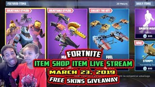 FORTNITE ITEM SHOP UPDATE FREE BEASTMODE SKINS LIVE STREAM - MARCH 23, 2019