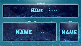 Free YouTube Banner Template | Photoshop (Banner + Logo + Twitter PSD) 2016