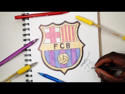 SKETCH SUNDAY #9 How To Draw The FC Barcelona Logo - DeMoose Art