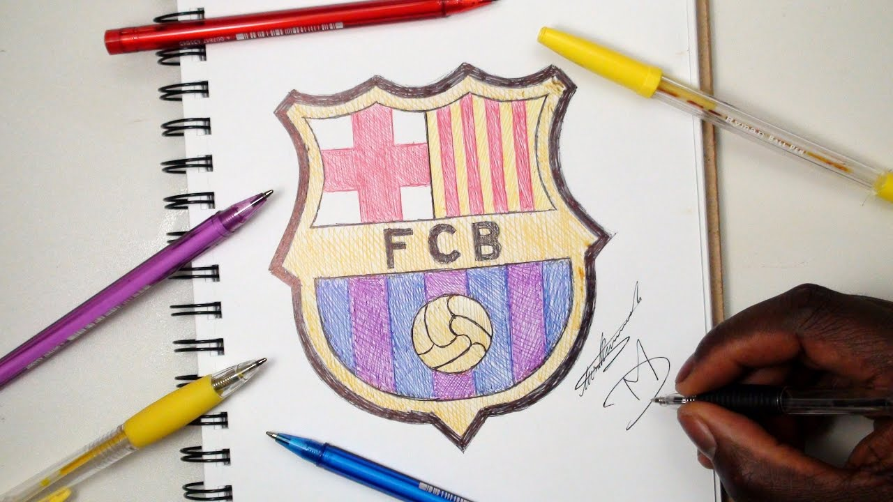 0ef480370d9 How To Draw The FC Barcelona Logo - SKETCH SUNDAY  9 - YouTube