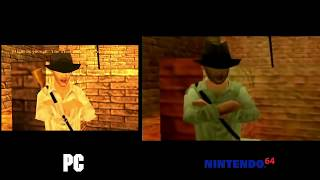 Indiana Jones and the Infernal Machine - PC vs N64 Comparison