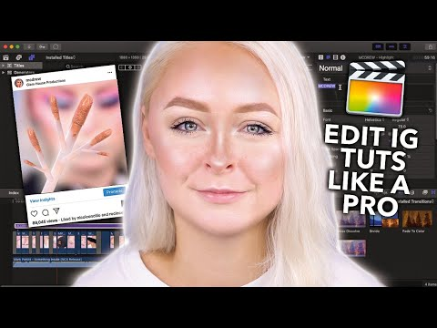 HOW I EDIT MY INSTAGRAM VIDEO MAKEUP TUTORIALS (Retain Quality, Music, Transitions & More!) | mcdrew