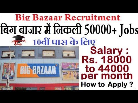Big Bazaar Recruitment 2020 Latest  50000+ Jobs Vacancies