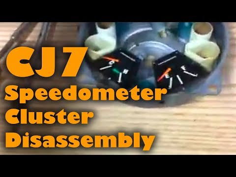 Jeep CJ7 Speedometer Cluster Disassembly