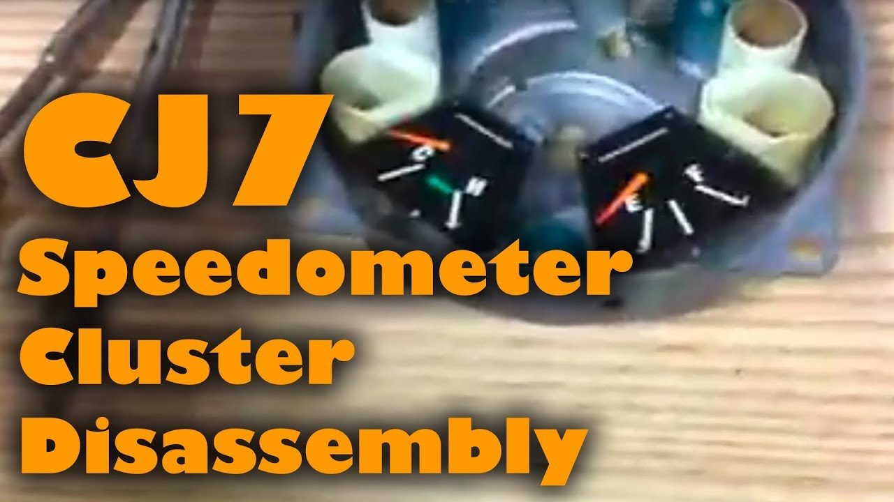medium resolution of jeep cj7 speedometer cluster disassembly