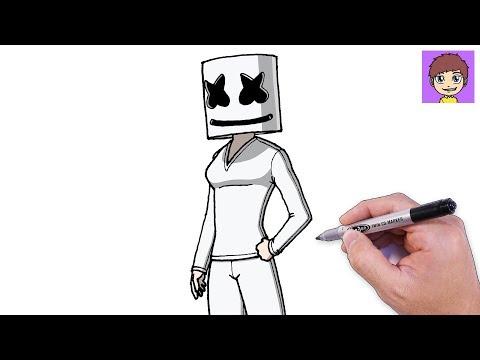 como-dibujar-chica-marshmello-paso-a-paso---dibujos-para-dibujar---dibujos-faciles