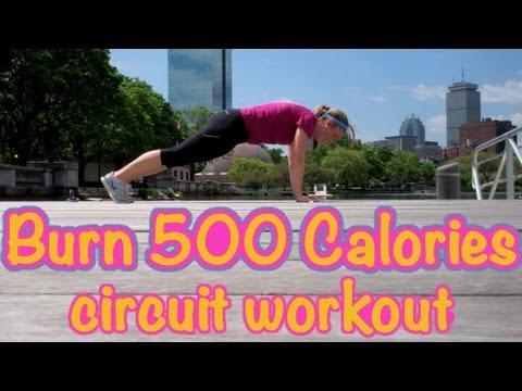 Burn 500 Calories! Outdoor Circuit Workout - Sarah Fit
