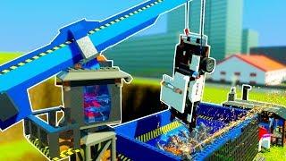 HUGE LEGO CAR CRUSHER DESTROYS CARS IN JUNKYARD! - Brick Rigs Workshop Creations Gameplay