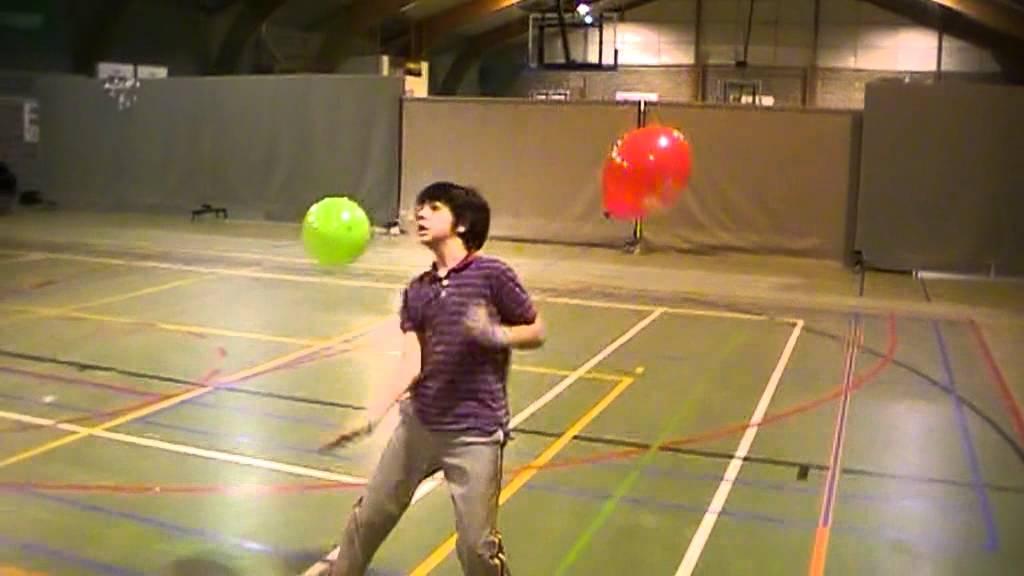 trabajo de coordinacion con globos