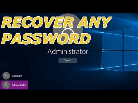 Reset/Recover Any Lost Windows 10 Password Inc Builtin Administrator