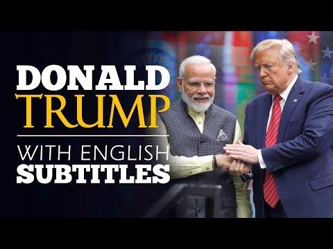 ENGLISH SPEECH | DONALD TRUMP: America Loves India (English Subtitles)