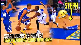 Steph Curry Hits CRAZY 3, Celebrates TOO EARLY & Pays The Price! 😂😂 Warriors Crazy Exhibition Game!
