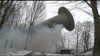 Bortsprængning af radartårne ved Skovhuse