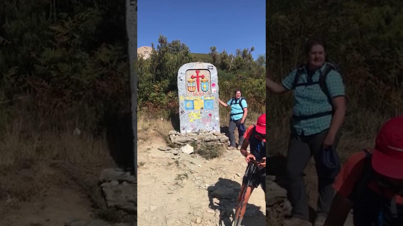 """""""Pilger Andy überquert die galicische Grenze"""