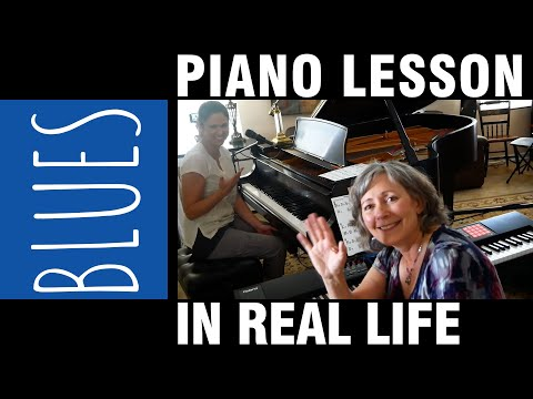 Blues Piano Lesson IN REAL LIFE