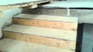 Деревянная лестница по бетонному основанию(Часть вторая. После выравнивания ступенек фанерой., 2015-04-02T11:06:54.000Z)