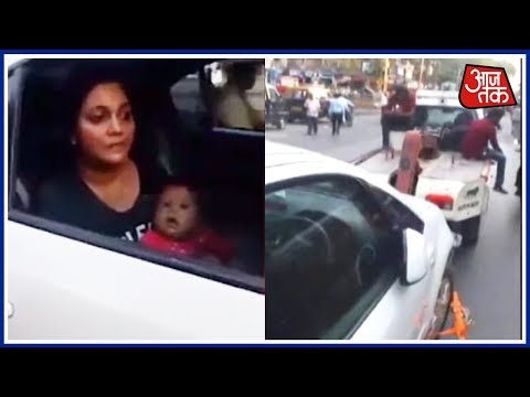 Another Video Reveals Different Story Of The Mumbai Breastfeeding Woman Towed By The Police