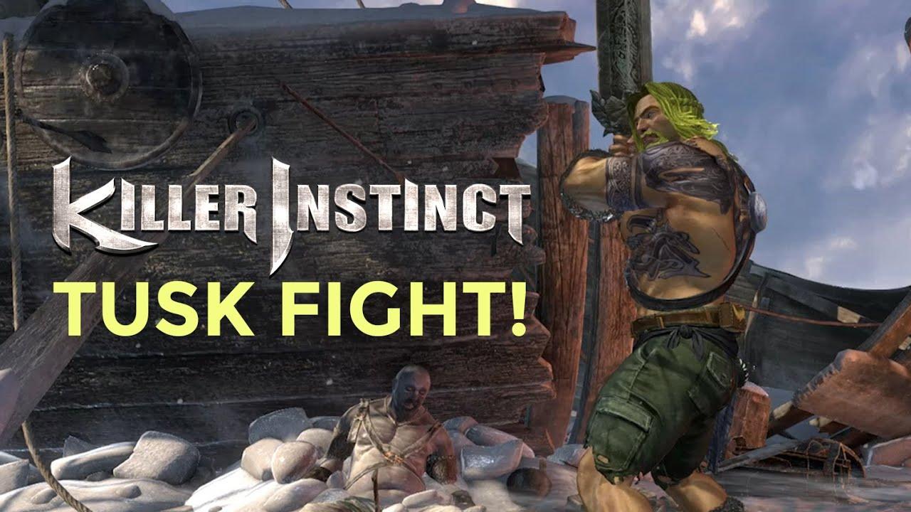 TUSK FIGHT! Killer Instinct Exclusive Tusk Gameplay (Xbox ...