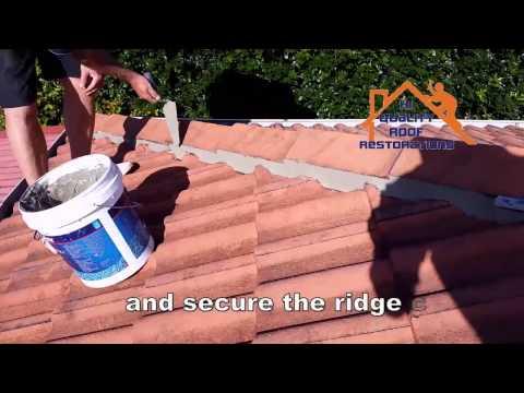 DIY ROOF RESTORATIONS - STEP 2 REPLACE RIDGE CAPS