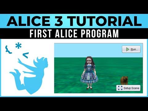 Alice 3 Tutorial - #01 - Your First Alice Program