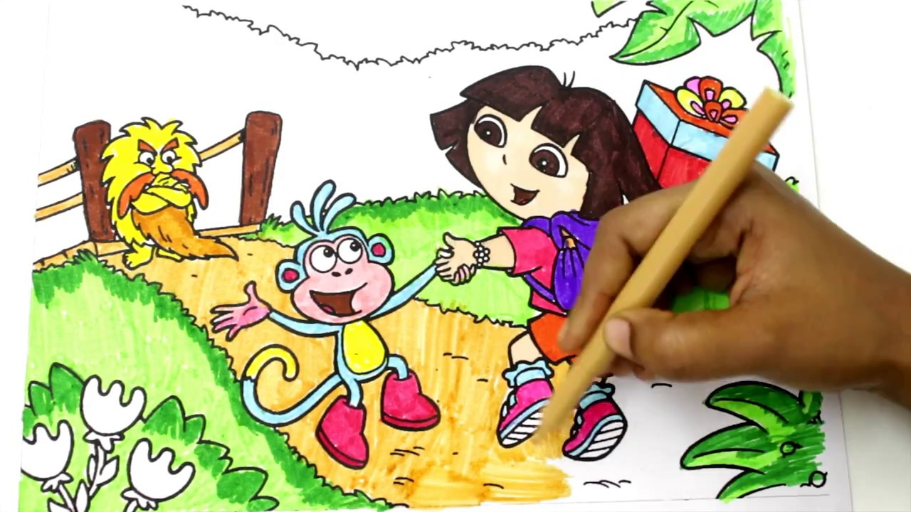 Dora The Explorer Coloring Game Play Coloring Dora Dora