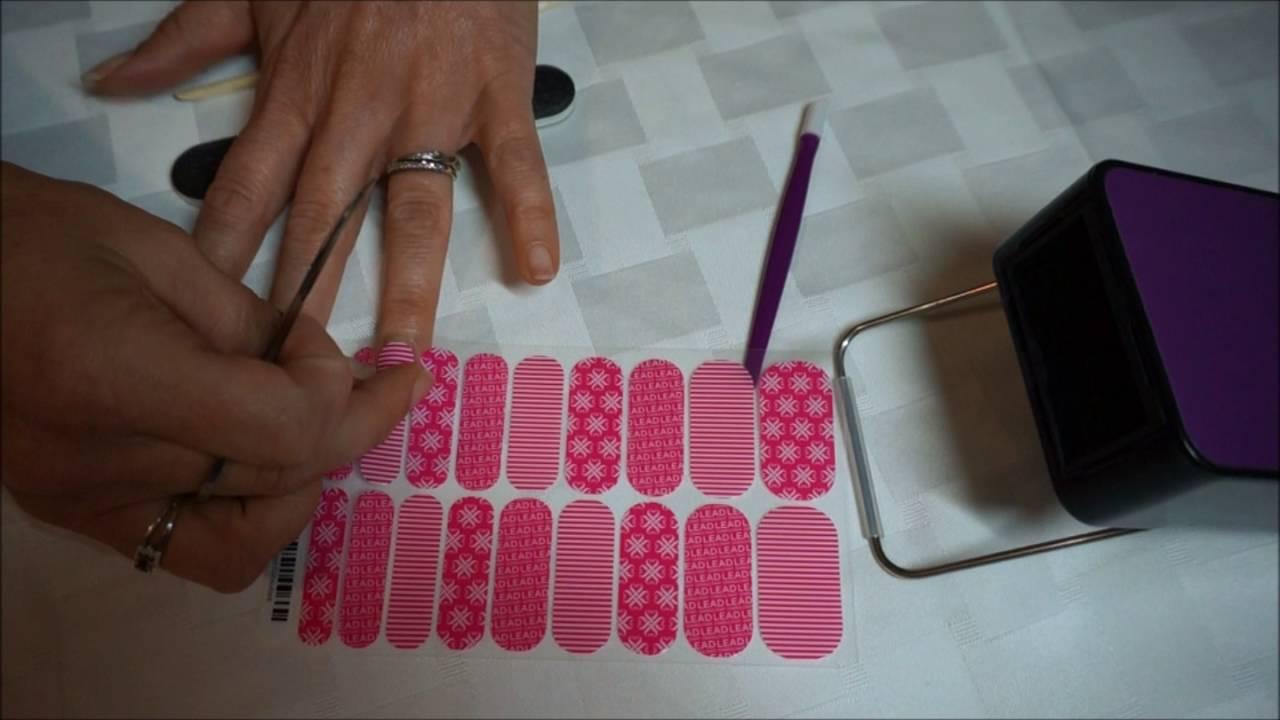 Aplicacion de envolturas (artes de uñas) Jamberry - YouTube