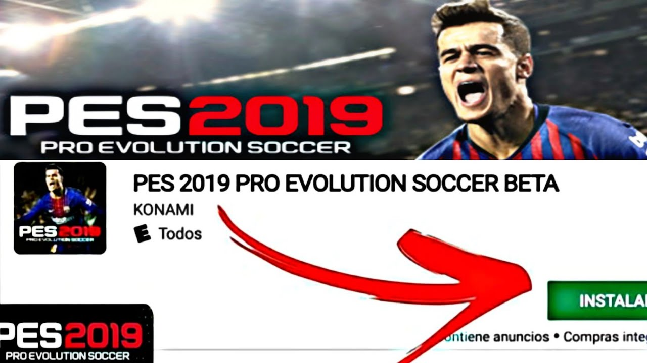 how to download and instal pes 2019 mobile beta | mega direct link