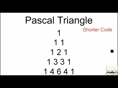 C Practical and Assignment Programs-Pascal Triangle Shorter Code