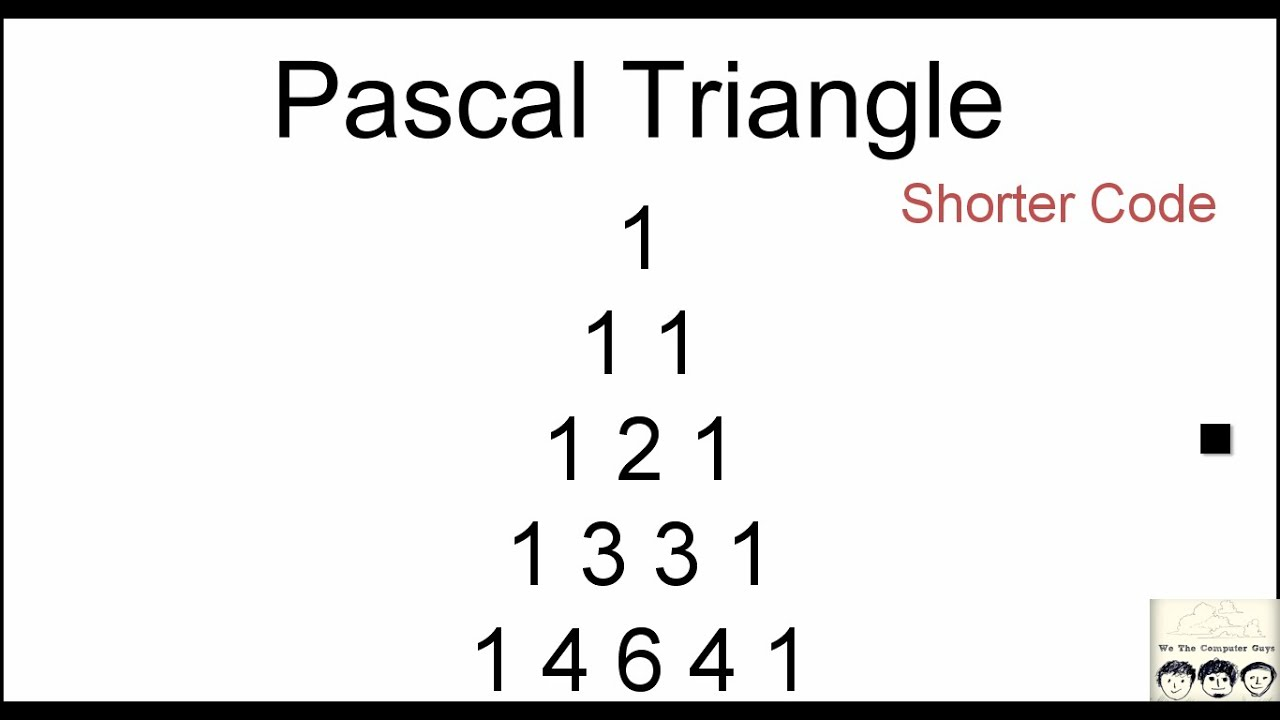 pascal triangle using recursive function