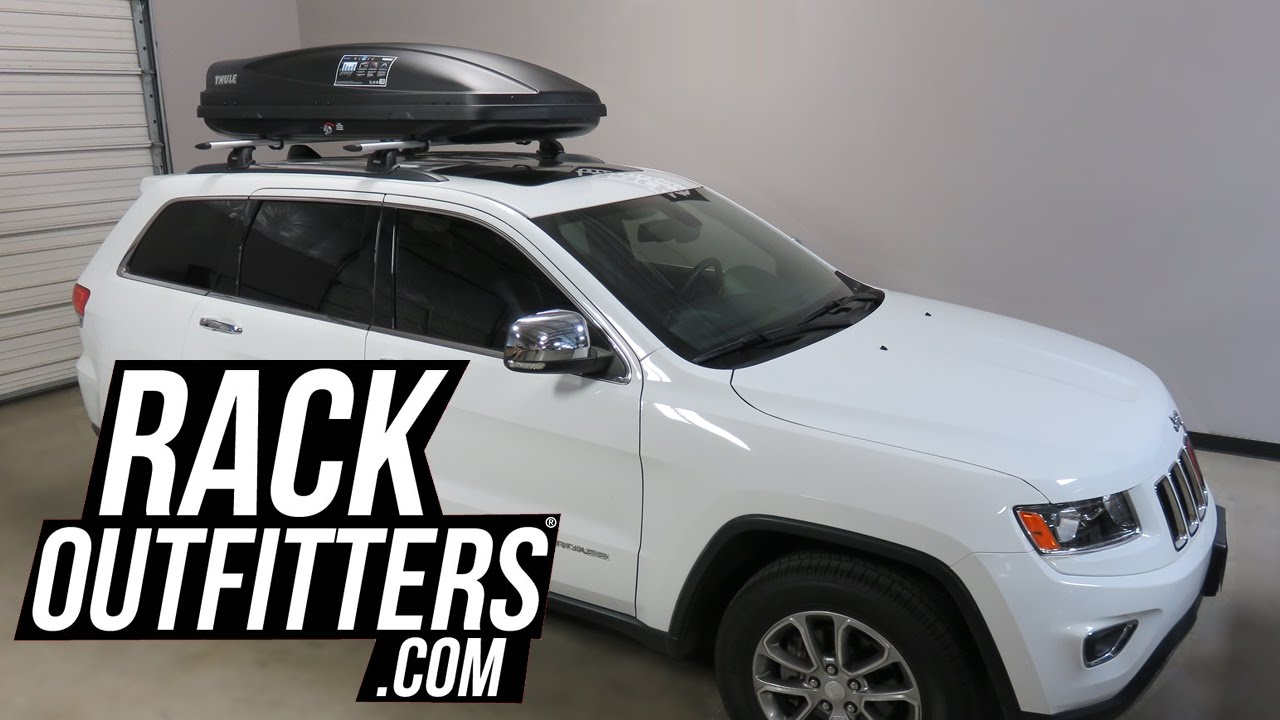 Jeep Grand Cherokee Outfitted With Thule Force Large Cargo Box Youtube