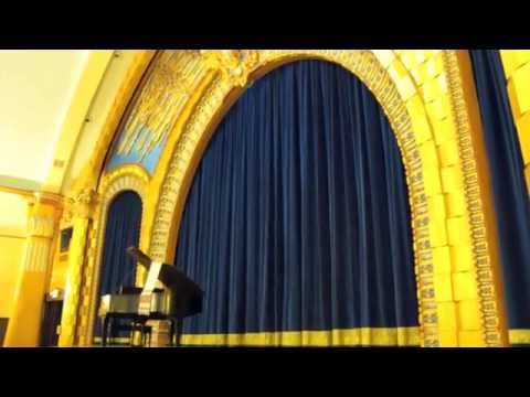 Theater curtains and stage curtain track for the Ukrainian Cultural Center in Los Angeles