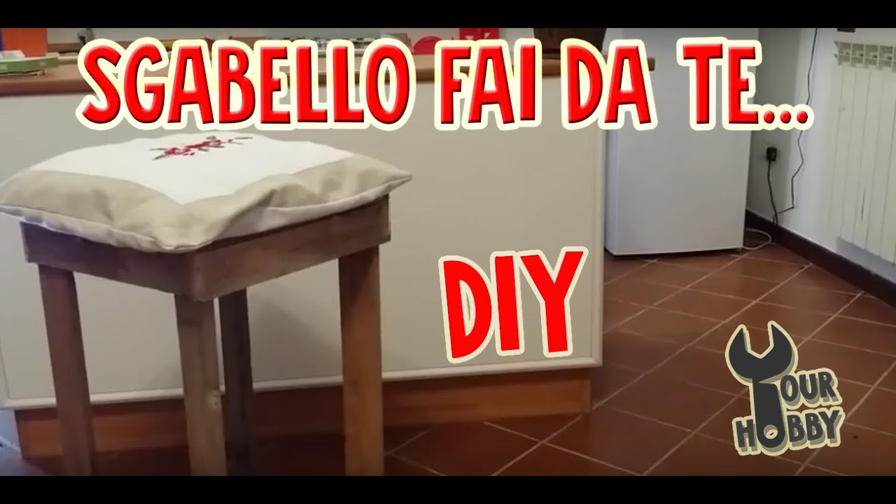 Diy arredo fai da te sgabello youtube