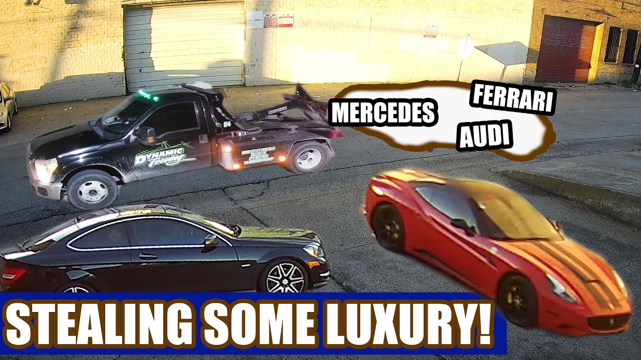 Ferrari! Audi! Mercedes!  It's Luxury Tow-away Roulette!