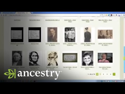 Ancestry.com Online Family Trees:  Uploading Pictures and Documents