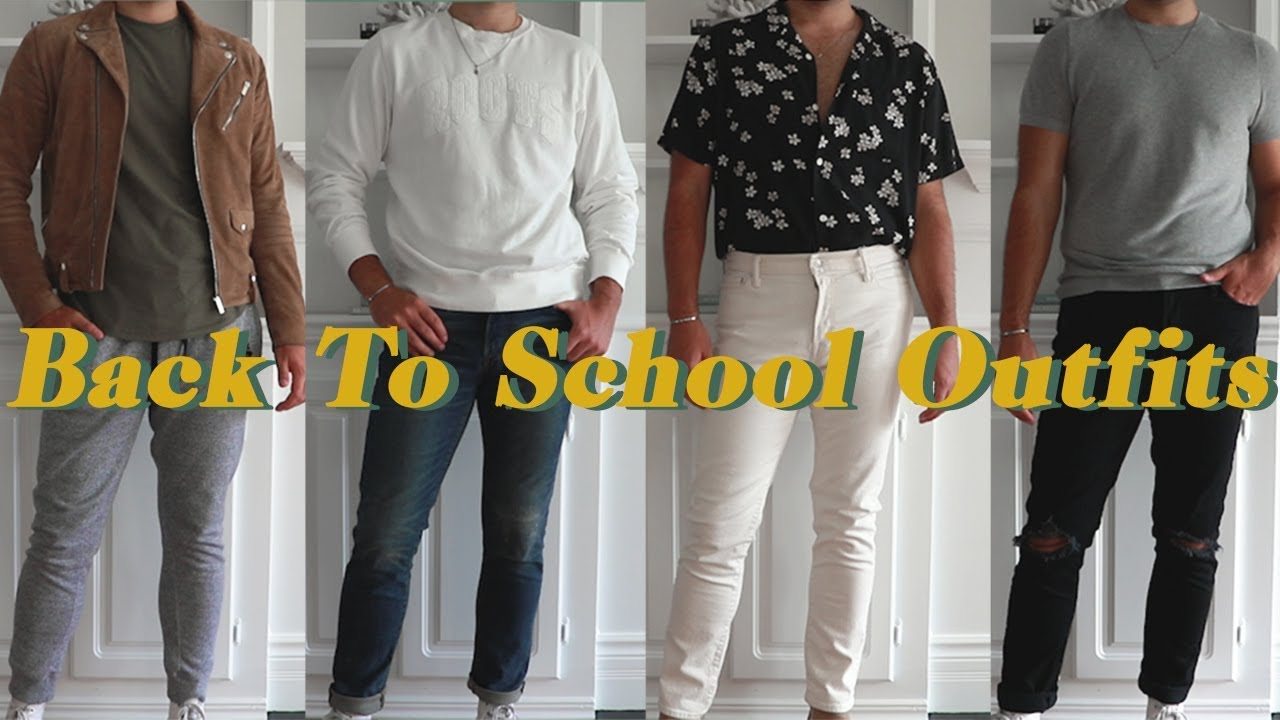 [VIDEO] - REALISTIC BACK TO SCHOOL OUTFIT IDEAS FOR GUYS 6