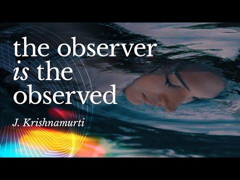 The Observer is the Observed   Krishnamurti