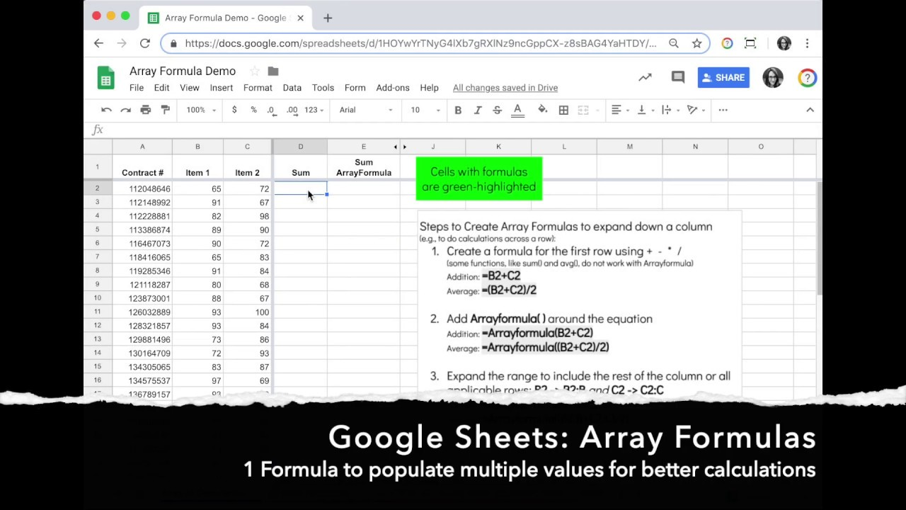 How to (and Why) Create a Basic Array Formula in Google Sheets