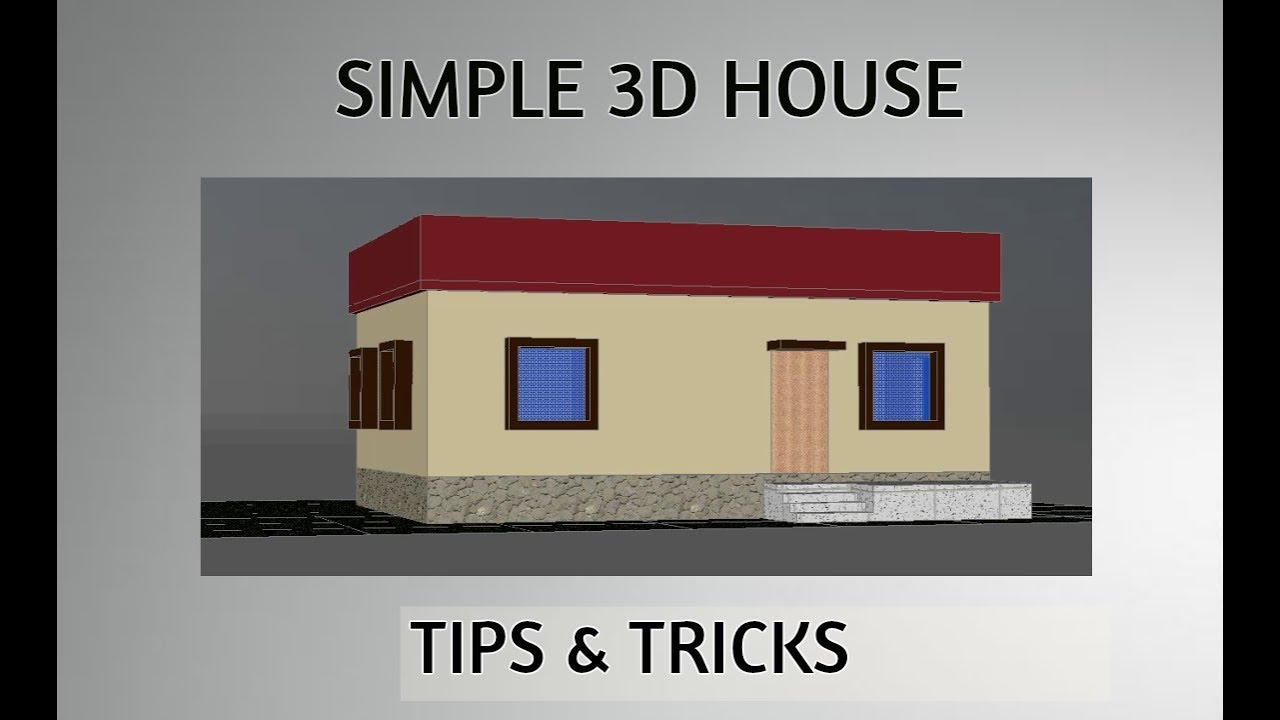 Fast Easy 3d House Design In Autocad Youtube