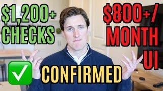 BREAKING: CONFIRMED $1200 Stimulus Checks & $800+/Month Unemployment Extension   HEALS Act