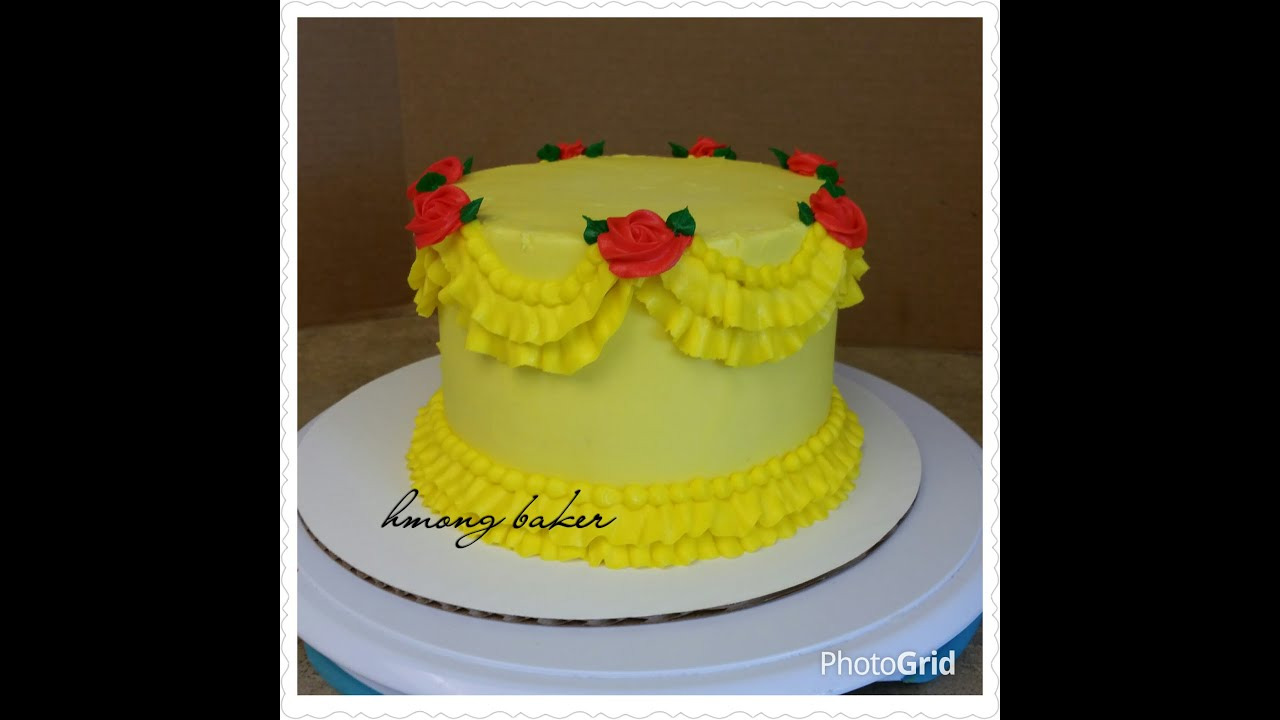 BEAUTY and the BEAST inspired cakeEASY Princess Ruffle Cake