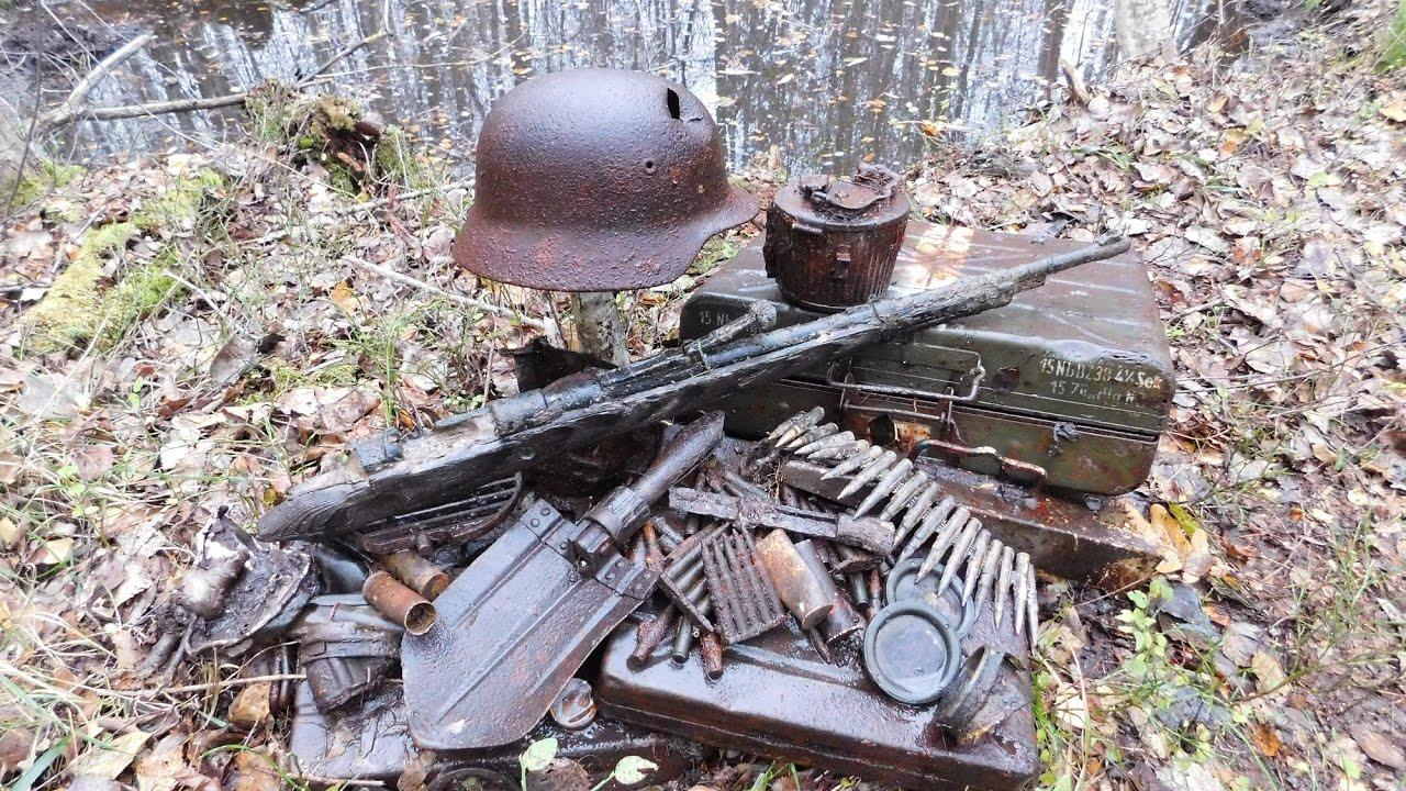 Коп по войне - война в болотах. на передовой / searching wit.